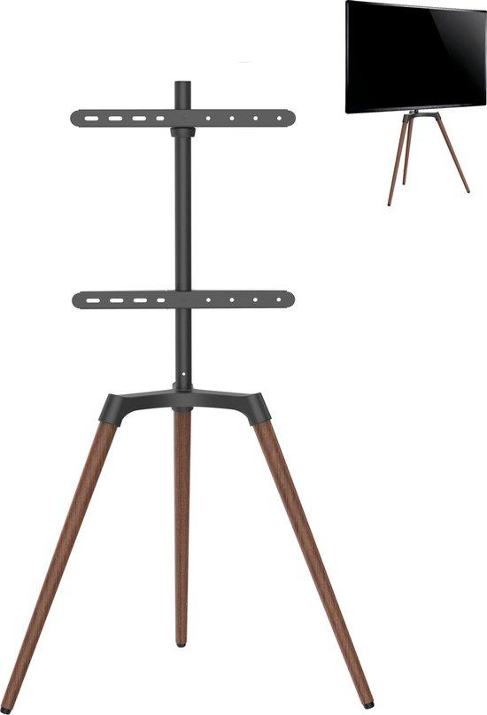 Tv beeldscherm standaard statief schilders ezel design studio - draaibaar - tot 65 inch