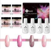Dipping powder starter kit - 4 kleuren - roze - dip poeder - acryl nagels - Dip poeder Starter Kit - Starterset - dip nagels - nagel poeder - acryl poeder - MTSSII - Dip Powder-