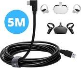 Oculus Quest 2 Link Kabel - 5 Meter USB C naar USB A - Kabel voor Oculus Link - 5gbps - VR - Hoge Snelheid Kabel Oculus Quest