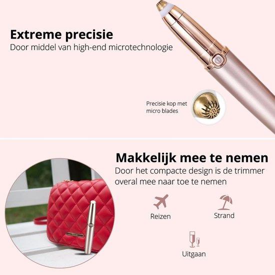 Wenkbrauw trimmer - Epileerapparaat dames - Wenkbrauw epilator - Bikinitrimmer - Precisietrimmer - LED lampje