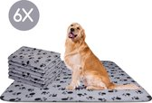 Nobleza Hondendeken - Hondenmatten - 120x100cm - Set van 6 stuks - Grijs
