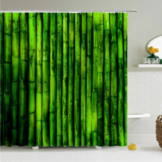 Bol Com Douchegordijn Bamboe Bamboestokken Natuur Gordijn Badkamer 180 X 200 Cm