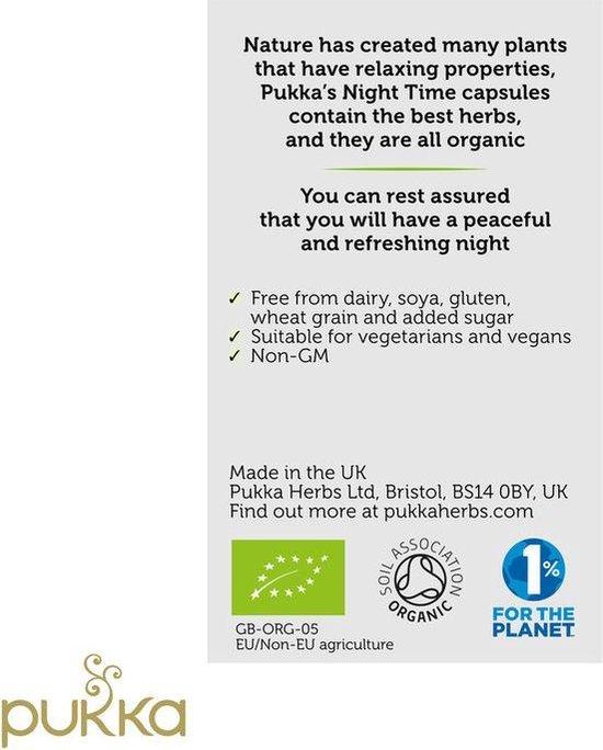 Pukka Night Time Capsules, biologisch kruiden supplement voor een rustige nacht (60 capsules)