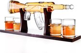 Salext Luxe Whiskey Karaf - AK-47 - 0.8L - Incl. 4 glazen 260ml - Decanteerkaraf