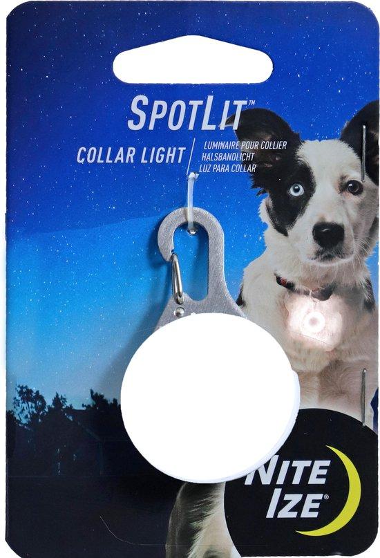 Hondenlampje - Nite-Ize Spot Lit safety light rond - wit