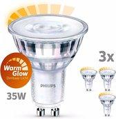 Philips LED Spot GU10 35W Dimbaar Warm Wit Licht 3 stuks