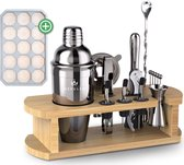 Nexuled® Cocktail Set – Inclusief IJsblokjestray - 16-Delig – RVS