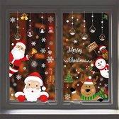 Kerst raam decoratie - Statisch - herbruikbaar - Kerst sticker - kerstman - kerstkado -  Christmas - Compleet set - Without lemon - kerst raamsticker - kerst decor