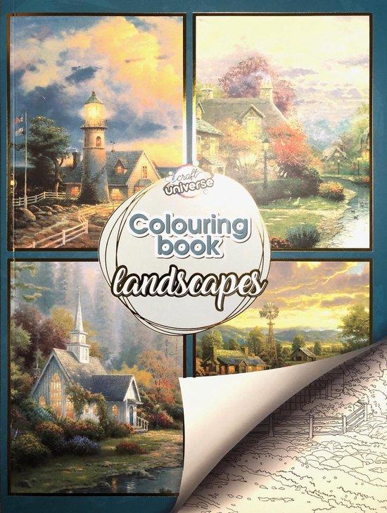 Afbeelding van Kleurboek Voor Volwassenen Landschappen