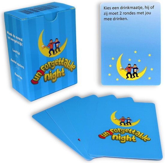 Afbeelding van het spel (Un)Forgettable Night – Drankspel – Kaartspel – Drank Spelletjes – Kaarten – 18+