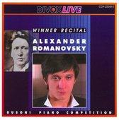 Alexander Romanovsky - Busoni Competition 2001 - Winner Re