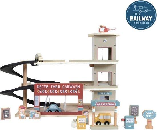Little Dutch Houten Speelgoed Garage