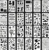 Joyage Stencils Bullet Journal - 24 stuks - Stencils en Sjablonen hobby volwassenen - Bullet Journal Producten - Bullet journal accesoires - Hobby en creatief volwassenen – Hobby materiaal - Hobby Materialen volwassenen