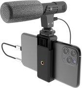 DigiPower Universal Shotgun Microfoon Kit DP-M25 | Smartphone/Camera/Vlog kit, Smartphone houder, Zwart
