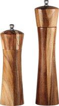Peper en Zoutmolen set van Acacia Hout Double Wood