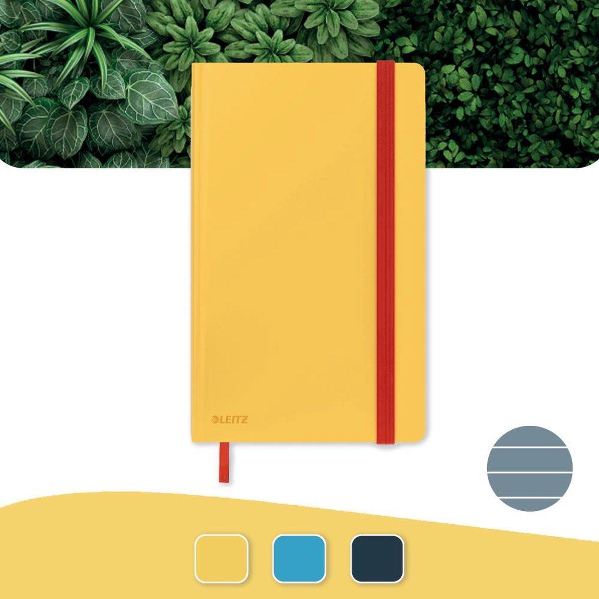 Leitz Cosy Notitieboek A5 Soft Touch Gelijnd - Notitieboek Hard Cover - Voor Kantoor En Thuiswerken - Warm Geel - Ideaal Voor Thuiskantoor