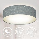 B.K.Licht - Plafondlamp - grijs - plafoniere - kinderkamer lamp - sternlamp - Ø38cm - excl. 2x E27