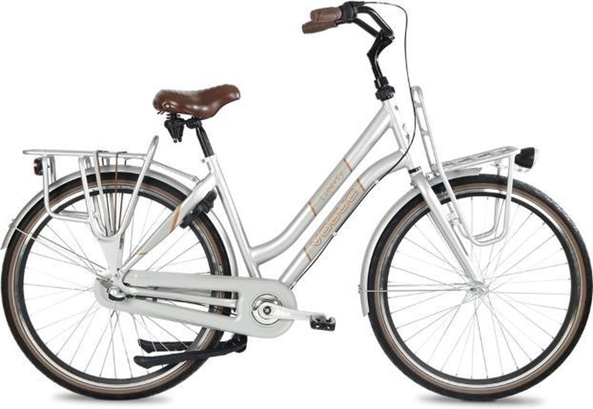 Vogue Liberty - Transportfiets - Damesfiets - 3 Versnellingen - 28 inch - 50 cm - Zilvergrijs