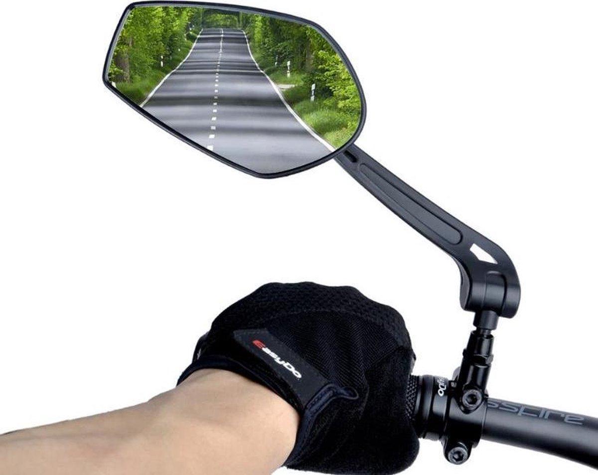Fietsspiegels set links en rechts - 360° Verstelbaar - E-bike - Elektrische fiets - Eco-Friendly - Spiegel - Safety - Mirror - Sport - Beugel - Zwart