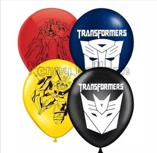 TRANSFORMERS-LATEX-12-STUKS- BALLON