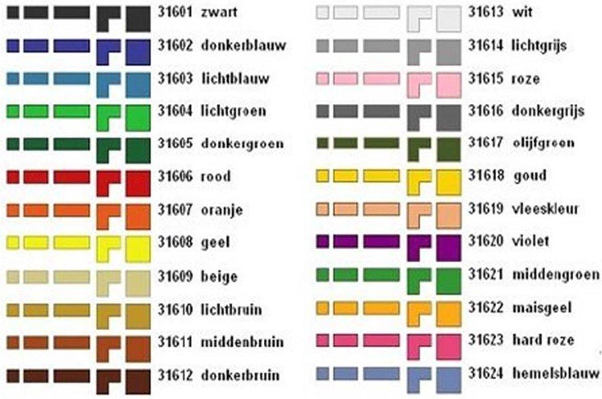 Ministeck assorti doos - 24 kleuren inclusief glow in the dark - 1 kg