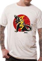 CID - Volwassen Unisex Vintage Godzilla T-Shirt (Wit)