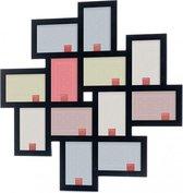 Fotolijsten collage - Hofmann - Collagelijst 12 foto's 10x15 cm - zwart - Mod. 580