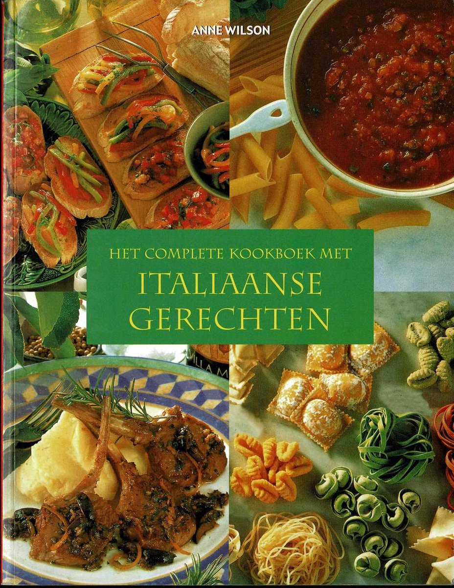 Het Complete Kookboek Met Italiaanse Gerechten