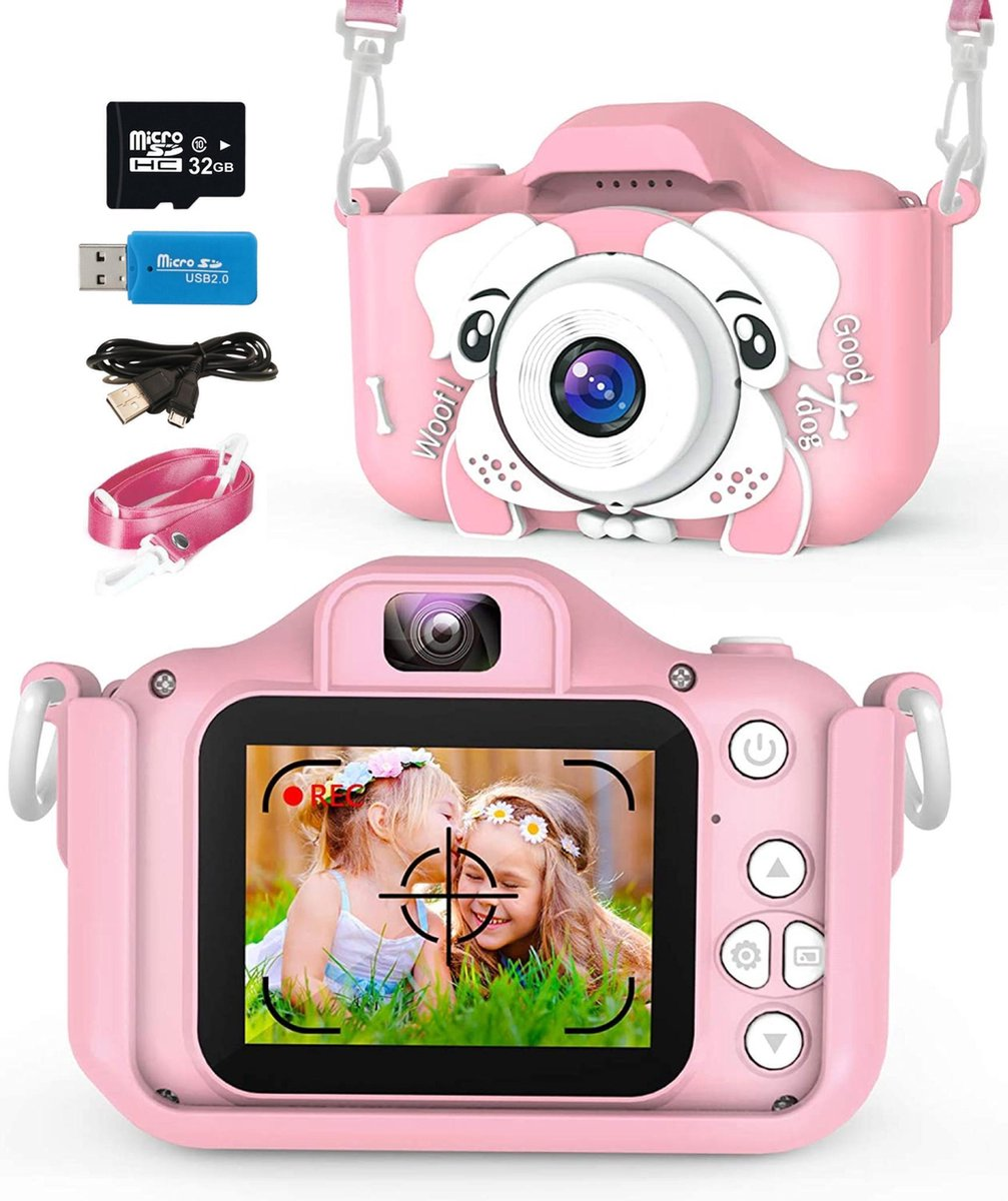 E'loir® Digitale Kindercamera inclusief Micro SD Kaart 32GB - Compact Fototoestel voor Kinderen - 10