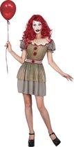 LUCIDA - Psychopathische clown kostuum voor vrouwen - S - Volwassenen kostuums