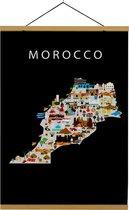 Kaart van Marokko   B2 poster   50x70 cm   Maison Maps