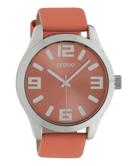 OOZOO Timepieces C10675 Roze Zilverkleurig Horloge