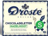 Droste Chocoladeletter Melk Hazelnoot - Letter S - 135 gram