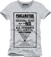 Harry Potter - Proclamation 82 Men T-Shirt - Grey - S