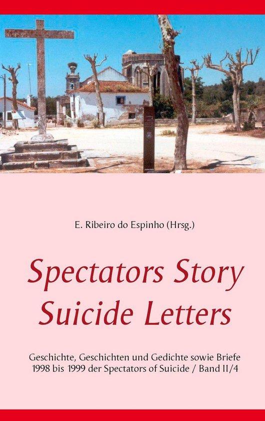 Boek cover Spectators Story Suicide Letters van  (Onbekend)