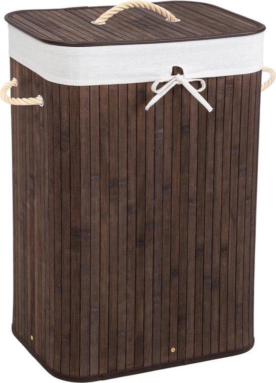 Bamboe wasmand incl. waszak - 72L - bruin