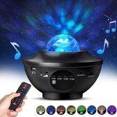 Starry projector light - sterrenprojector-sterrenlamp- sterren projector-nachtlamp-night light-galaxy projector-star projector-sterrenhemel plafond-nachtlampje baby-sterrenplafond 2020 model-sfeerlamp-muziek-sfeerverlichting-Bluetooth-usb-aansluiting