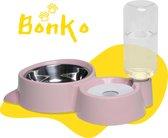 Bonko Automatische Voerbak Hond/Kat - Kattenbak - Roze