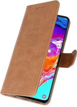 Wicked Narwal | bookstyle / book case/ wallet case Wallet Cases Hoes voor Samsung Samsung Galaxy Note 10 Lite Bruin