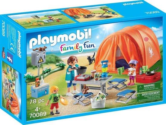 PLAYMOBIL Family Fun Kampeerders met tent - 70089