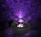 Dirckx® Sterren Projector - Galaxy Projector - USB Kabel - Bluetooth - Milieubewust - Sterrenlamp -  Star light Projector - Sterrenhemel Projector - Nachtlampje - Muziek - Sfeerverlichting - Bedlamp - Discolamp - Feestverlichting - Baby - Zwart