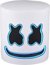 Marshmello Masker - Fortnite - Marshmellow - DJ Marshmello - Halloween - Carnaval - Verkleedkleding - Inclusief Iceblue LED Licht