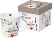 "Mok met kat ""Home is where my CAT is!"