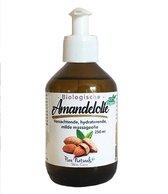 Amandel olie 250 ml – Koudgeperst en Biologisch – 100% Puur - Geschikt voor de Baby huid - Pure Naturals