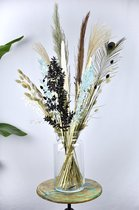 Droogbloemen Boeket | Blauw XL 80 cm | Dried flowers | Gedroogde bloemen