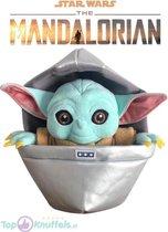 Baby Yoda Pluche knuffel -- Precious Cargo -- Star Wars The Mandalorian 27 CM  | Baby Yoda Floating in a Pod | The Baby Yoda Child Peluche Plush in a Pod Joda 27 CM