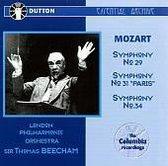 """Mozart: Symphony No. 29; Symphony No. 31 """"Paris""""; Symphony No. 34"""