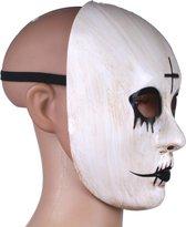 Amscan Verkleedmasker The Purge Pvc Wit/zwart One-size
