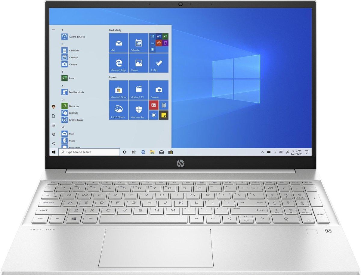 "HP Pavilion 15-eg0675nd DDR4-SDRAM Notebook 39,6 cm (15.6"") 1920 x 1080 Pixels Intel® 11de generatie Core™ i7 16 GB 512 GB SSD NVIDIA GeForce MX450 Wi-Fi 5 (802.11ac) Windows 10 Home Aluminium, Zilver"