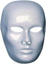 Wit blanco maskers dames gezicht - Zelf te beschilderen of te decoreren